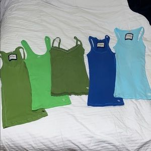 Abercrombie & Fitch Med Girl's 5 Tank Top Bundle